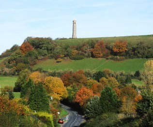 Approaching North Nibley, Autumn 2010